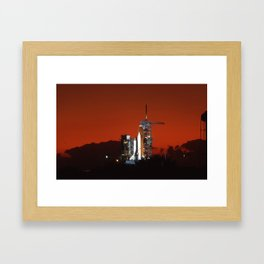 Shuttle with fantastic sunset Framed Art Print
