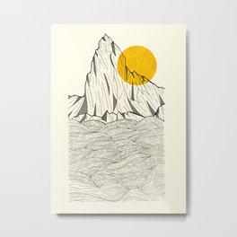 Sun Cliffs Metal Print