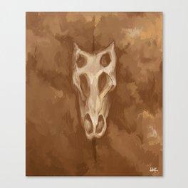 Stegosaurus Skull Canvas Print