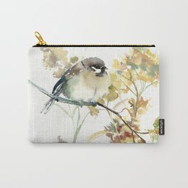 Sparrow and Dry Plants Carry-All Pouch
