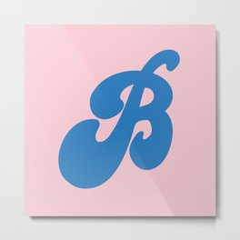 B is for Busy Metal Print