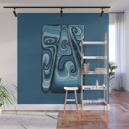 Sea Typography - Sailor Blue Wall Mural