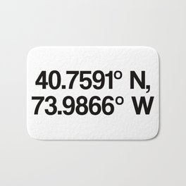 Coordinates of the Richard Rogers Theater - Home of Hamilton: The American Musical Bath Mat