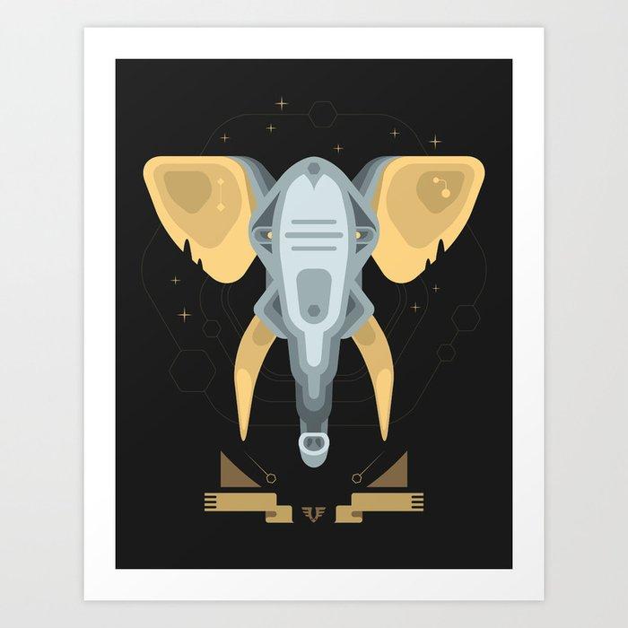 Elephant trophy Art Print