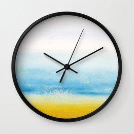 Waves and memories Wall Clock