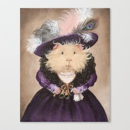 Ingrid Pumpernickel the Victorian Guinea Pig Canvas Print