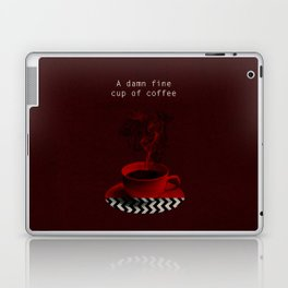 """Twin Peaks"" - A damn fine cup of coffee Laptop & iPad Skin"