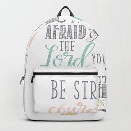 Joshua 1:9 Christian Bible Verse Typography Design Backpack