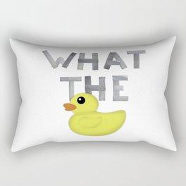 WHAT THE DUCK written with duck tape Rectangular Pillow