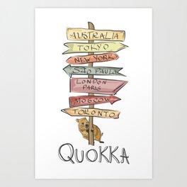 Quokka Art Print