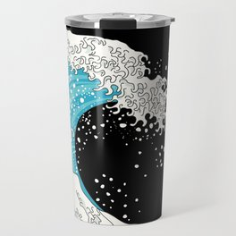 The Great Wave (night version) Travel Mug