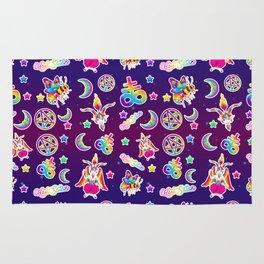 1997 Neon Rainbow Occult Sticker Collection Rug