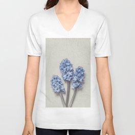 Light Blue Hyacinths Unisex V-Neck