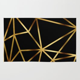 In Gold Triangles. Art Deco. Rug