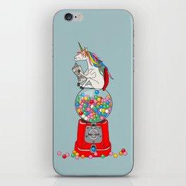 Unicorn Gumball Poop iPhone Skin