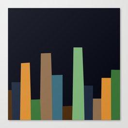 City Perspective-Navy Midnight Canvas Print