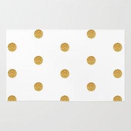 Golden dot 2 dot Rug