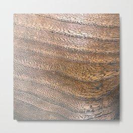 Warm Waved Wood Metal Print