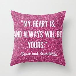 Sparkly Sense & Sensibility Throw Pillow