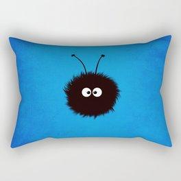 Blue Cute Dazzled Bug Rectangular Pillow