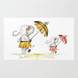 Cheerfull Elphants Rug