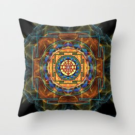 The Sri Yantra - Sacred Geometry Throw Pillow