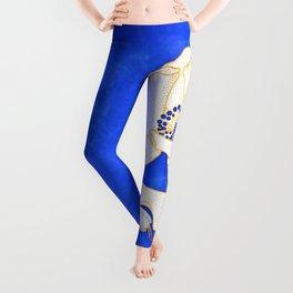 Ultramarine Blue :: Anemones Leggings
