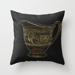 Etched Glass Throw Pillow