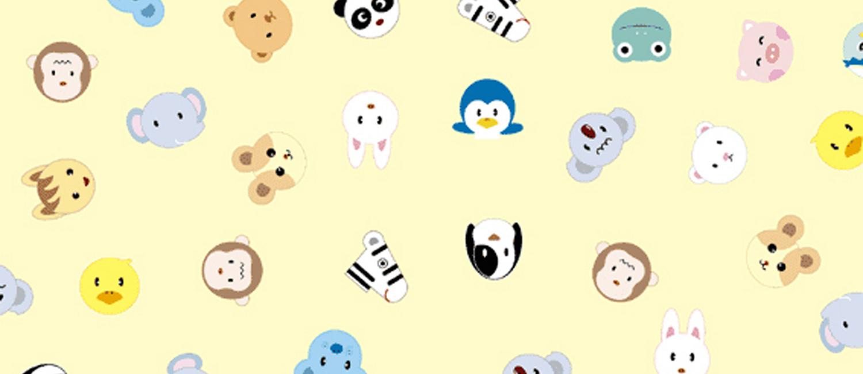 Cute Chibi Animals Pattern Coffee Mug