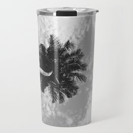 Palm Tree, San Blas Islands, Panama, Black & White Travel Mug
