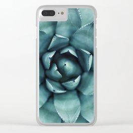 Aloe Green Agave Clear iPhone Case