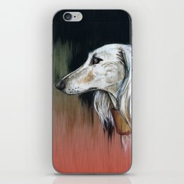 Saluki I - Illustrious dogs. iPhone Skin