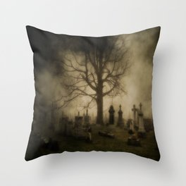 Unsettling Fog Throw Pillow