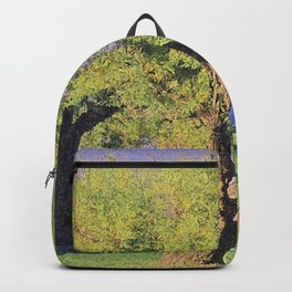 Tamarisk Trees Overlooking the Ocean Backpack