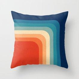 Retro 70s Color Palette III Throw Pillow