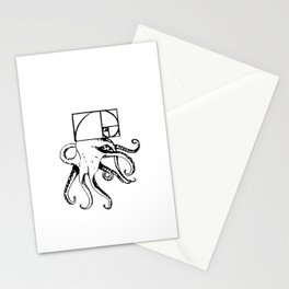 golden octopus Stationery Cards