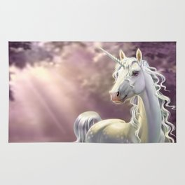 Unicorn in the forest Rug