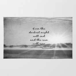 Les Miserables Quote Victor Hugo Rug