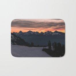 Rising Sun in the Cascades - nature photography Bath Mat