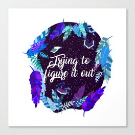 Trying to figure it out Canvas Print