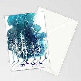 Winter Night 2 Stationery Cards