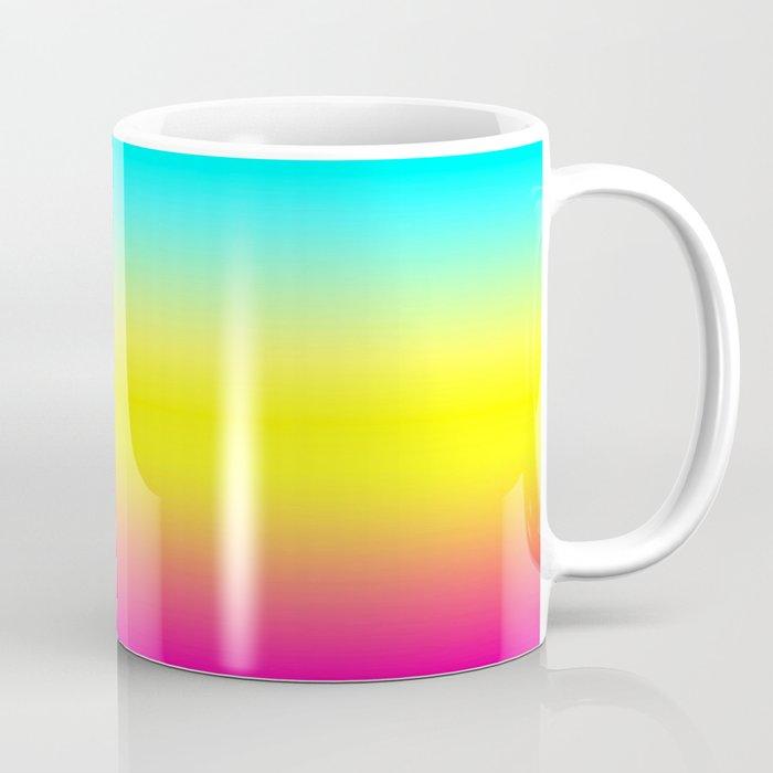 ombre magical rainbow unicorn colors coffee mug by peladesign society6