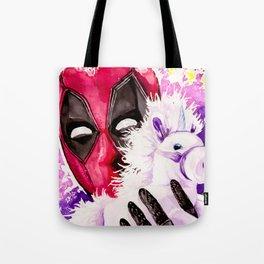 Wade Wilson and Unicorn Pal Tote Bag