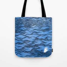Man & Nature - The Dangerous Sea Tote Bag