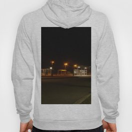 Train and Bus stop in Germany by night Hoody