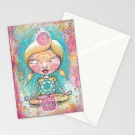 Chakra Girl Stationery Cards