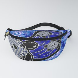 Baby Sea Turtles - Aboriginal Art Fanny Pack