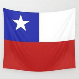 Chile flag emblem Wall Tapestry