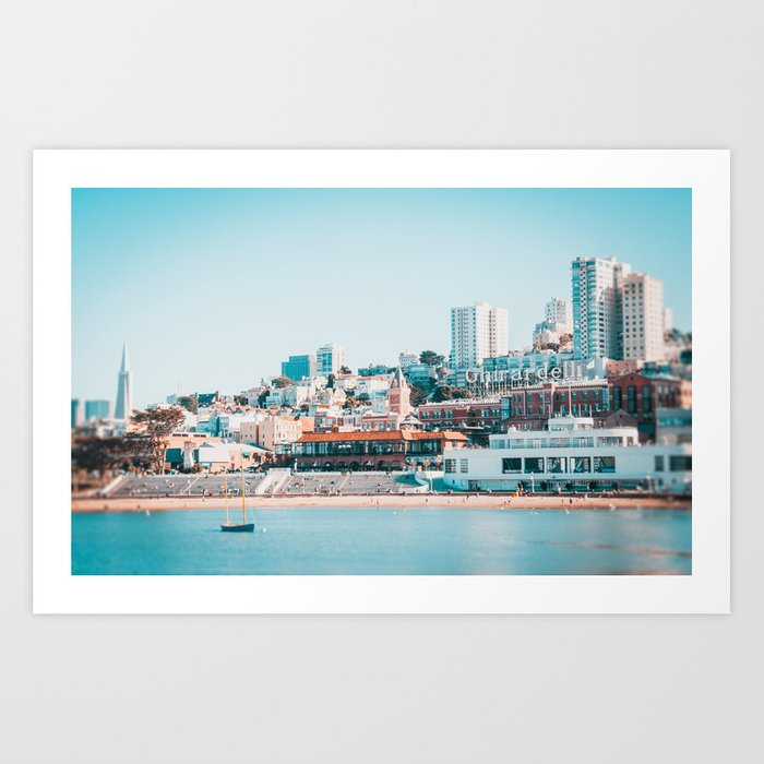 Ghirardelli Sign in San Francisco Fine Art Print  • Travel Photography • Wall Art Art Print