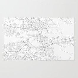 Stockholm, Sweden Minimalist Map Rug